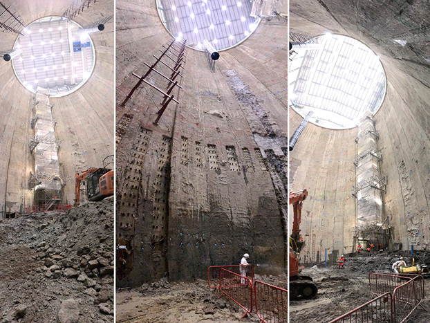 Another tunnel boring machine prepares to dive under London