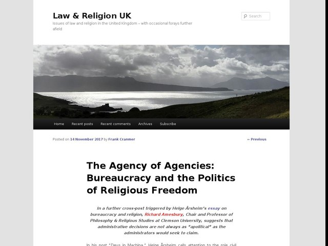 The Agency of Agencies: Bureaucracy and the Politics of Religious Freedom