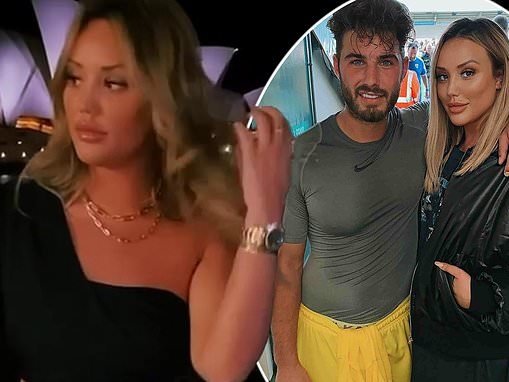 Charlotte Crosby enjoys romantic dinner in front of Sydney Opera House with boyfriend Joshua Ritchie