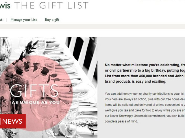 John Lewis Apologises After Wedding Gift List Site Disappears Tech