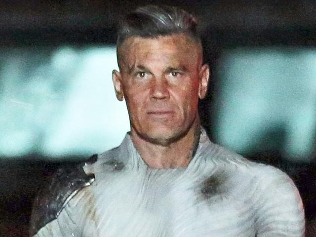 Josh Brolin Films 'Deadpool 2' in His Skin Tight Cable Costume!