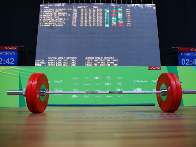 Hou secures home success at Asian Weightlifting Championships