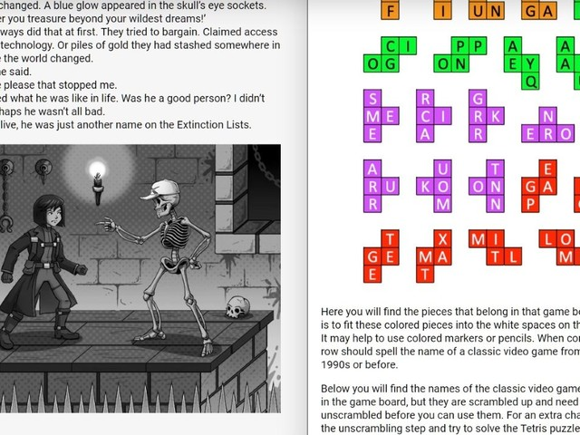 PuzzleTales is a choose-your-own-brainteaser browser adventure with a demo