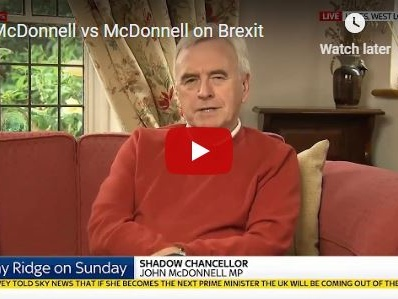 McDonnell vs McDonnell on Brexit