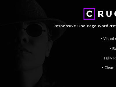 Crucio - Responsive One Page WordPress Theme (Creative)