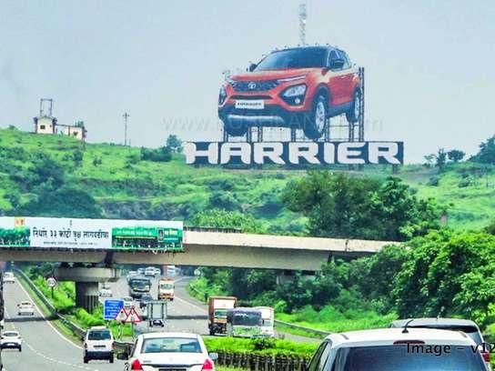 Tata Harrier beats Jeep Compass hoarding in size – Unveils India's tallest display ad