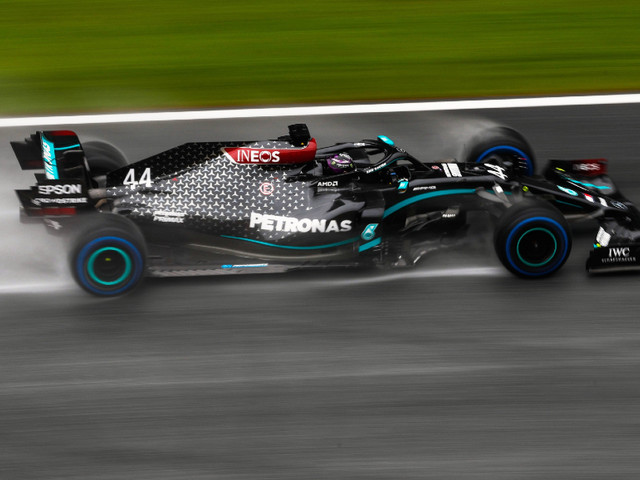 F1 2020: Hamilton masters wet conditions to take Styrian GP pole