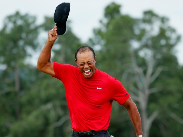 Tiger Woods responded to his Masters victory, saying: 'Now we know why I'm balding'