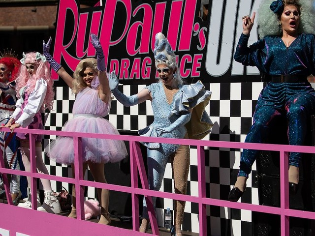 RuPaul's Drag Race UK: The queens bring glam to the Manchester Pride parade