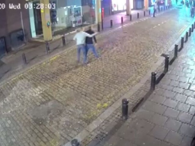 CCTV released after man left with fractured skull in city centre assault