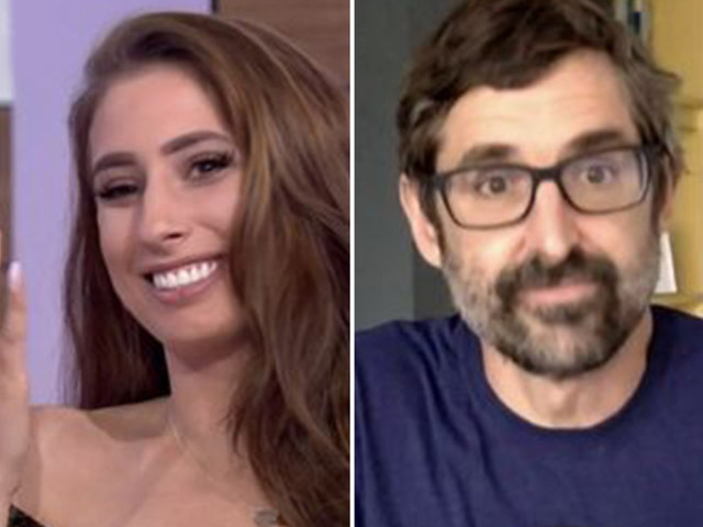 Stacey Solomon blushes and squeals as she comes face to face with 'celeb crush' Louis Theroux