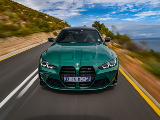 2021 BMW M3 in Isle of Man Green featured in a new photoshoot