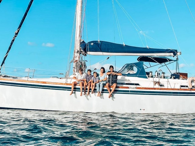 I started a PR company while sailing the world on a yacht with my husband and 3 sons. Here's how we saved for, planned, and built the lifestyle of our dreams.