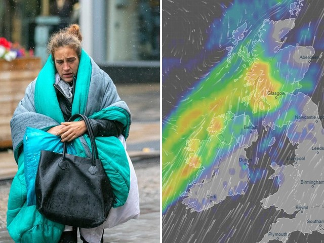 UK weather forecast – Heavy rainstorm to trigger flooding as Britain braces for weekend washout, Met Office warn