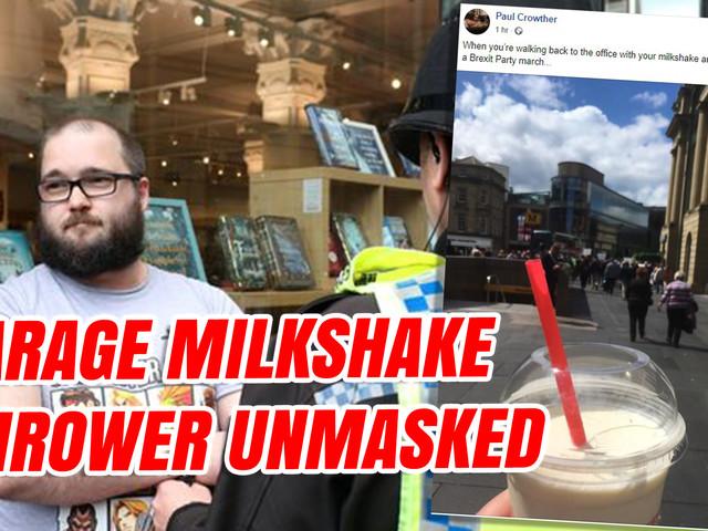 Farage Milkshake Thrower Unmasked
