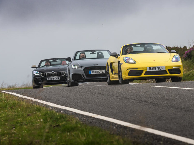 Convertible clash: New BMW Z4 vs Porsche Boxster and Audi TT
