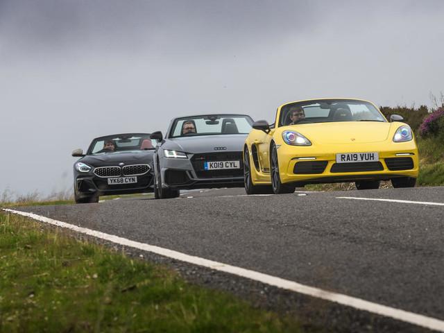 Convertible clash: New BMW Z4 vs Porsche Boxster and Audi TT