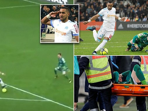 Dimitri Payet injures keeper by scoring outrageous finish