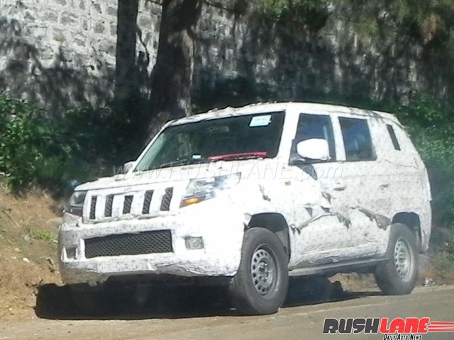 Mahindra TUV500 spied wearing production ready LED tail lights
