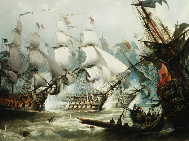 What happened at the Battle of Trafalgar?