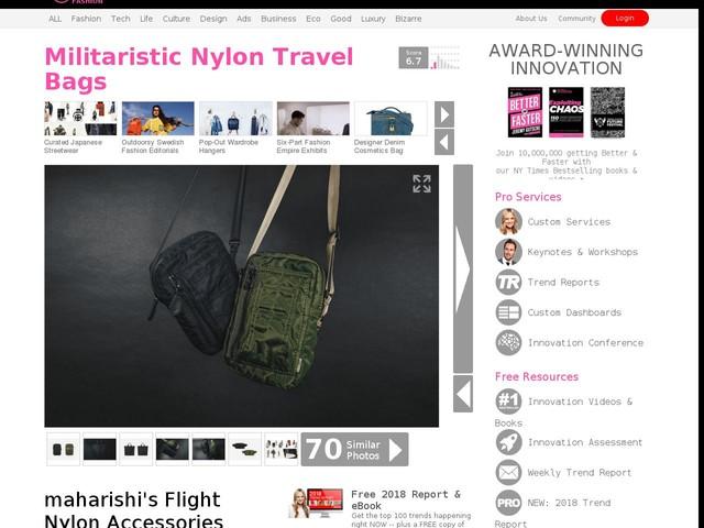 Militaristic Nylon Travel Bags - maharishi's Flight Nylon Accessories Have Weather-Resistant Designs (TrendHunter.com)