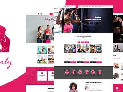 Girly | Women Fitness WordPress Theme (Health & Beauty)