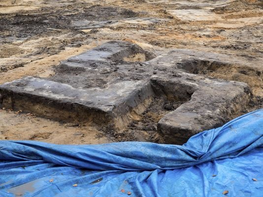 Giant Swastika unearthed under German football ground
