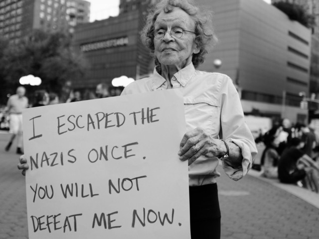 This Woman Escaped The Nazis Once. Now She's Fighting Nazism Again.