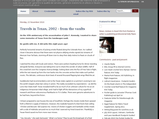 Travels in Texas, 2002 - from the vaults
