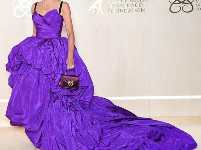 Sharon Stone Wore Dolce & Gabbana Alta Moda For The 5th Monte-Carlo Gala