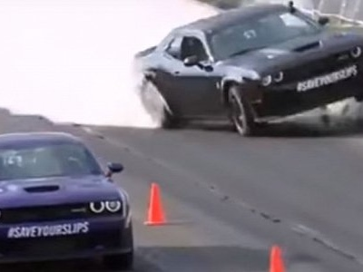 Discovery Network's Richard Rawlings Crashes Hellcat While Drag Racing