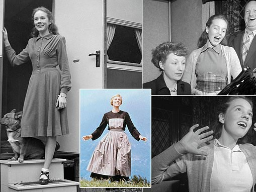 Rare black and white images show Julie Andrews as a 16-year-old