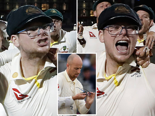 'Classless' Steve Smith slammed for mocking Jack Leach with glasses celebration after retaining the Ashes