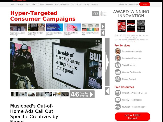 Hyper-Targeted Consumer Campaigns - Musicbed's Out-of-Home Ads Call Out Specific Creatives by Name (TrendHunter.com)