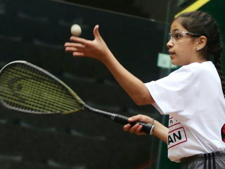 Squash a perfect match for Syria girl refugees in Jordan