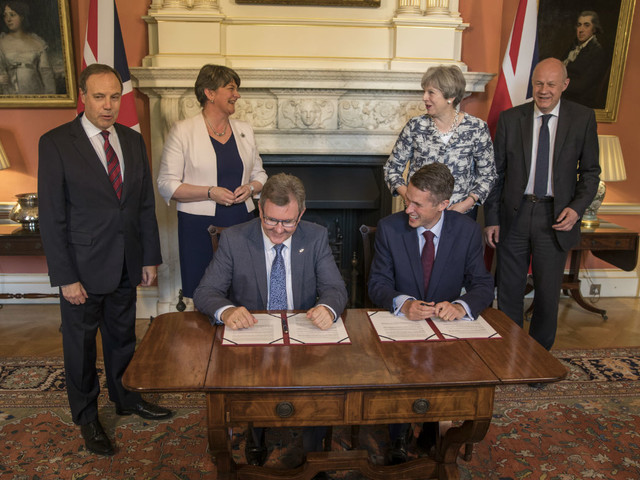Tories-DUP agree 'confidence and supply' deal