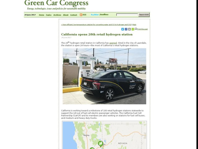 California opens 28th retail hydrogen station