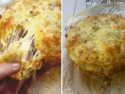 Clever mum reveals how to make mouthwatering cheese, bacon and garlic pull-apart