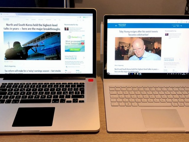 I'm a long time MacBook user and tried Microsoft's new Surface Book 2 for a week — here's what I learned (MSFT, AAPL, GOOG)