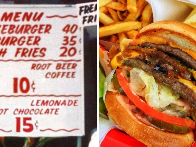THEN AND NOW: How fast-food menus have changed over the years