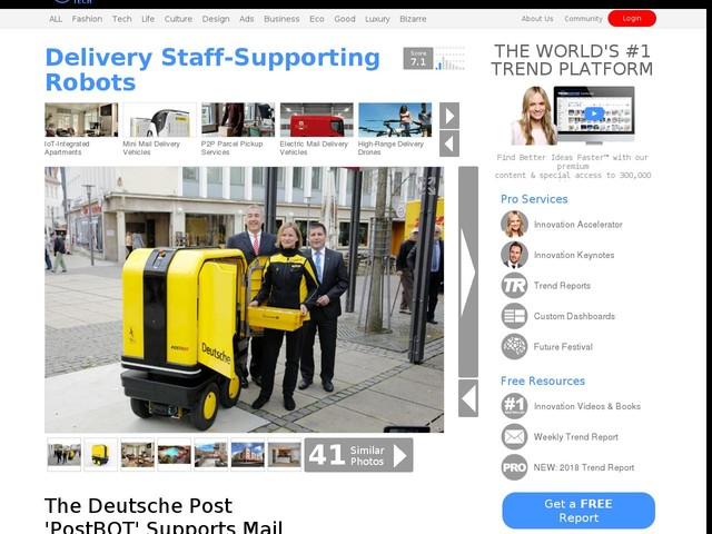 Delivery Staff-Supporting Robots - The Deutsche Post 'PostBOT' Supports Mail Deliverers as They Work (TrendHunter.com)