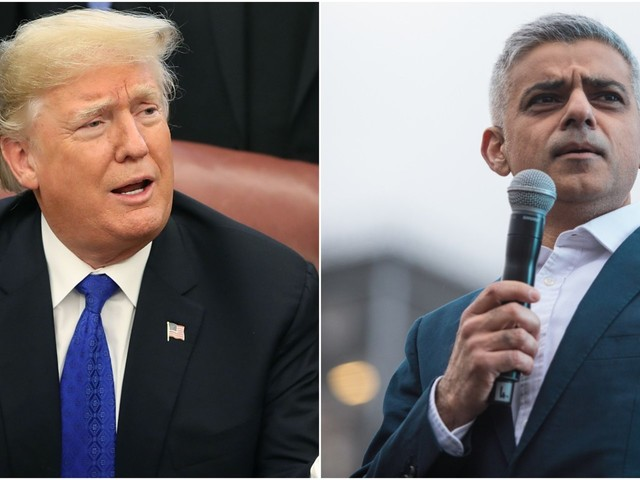 Trump mocked London mayor Sadiq Khan over his police force's hacked Twitter account