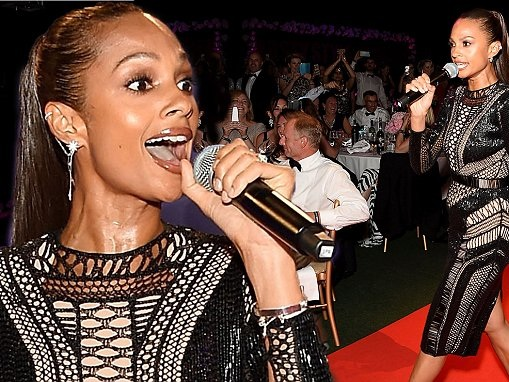 Alesha Dixon wows in sheer bodycon dress at Jersey Style Awards