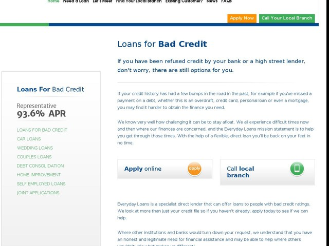 Loans for Bad Credit - Direct UK Lender - No Guarantors