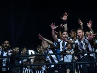 PAOK fans celebrate their 1st Greek league title in 34 years