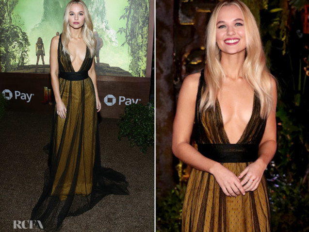 Madison Iseman In Thai Nguyen Atelier – 'Jumanji: Welcome To The Jungle' LA Premiere