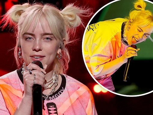 Billie Eilish belts out her tunes at the 2021 iHeartRadio Music Festival
