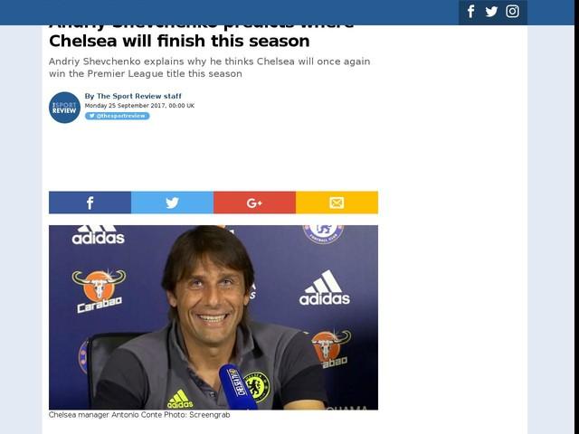 Andriy Shevchenko predicts where Chelsea will finish this season