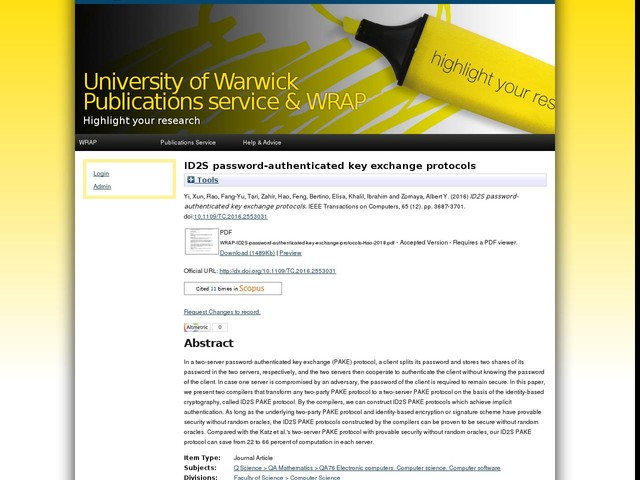 ID2S password-authenticated key exchange protocols