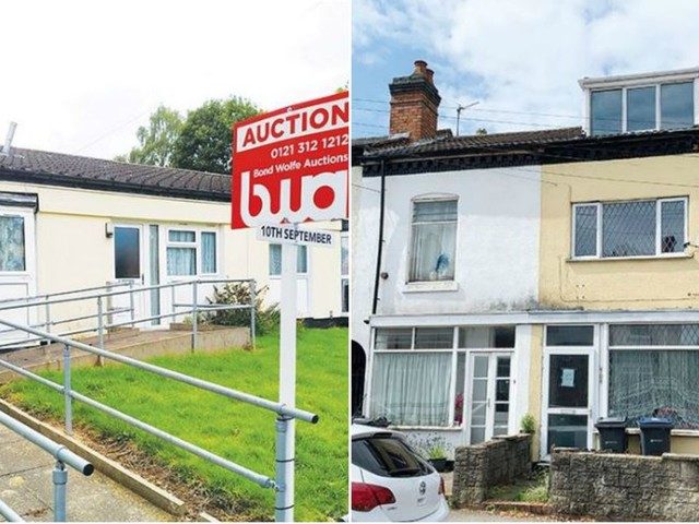 Bungalow with starting price of £5k and FOUR BEDROOMED house beginning at £20k up for auction